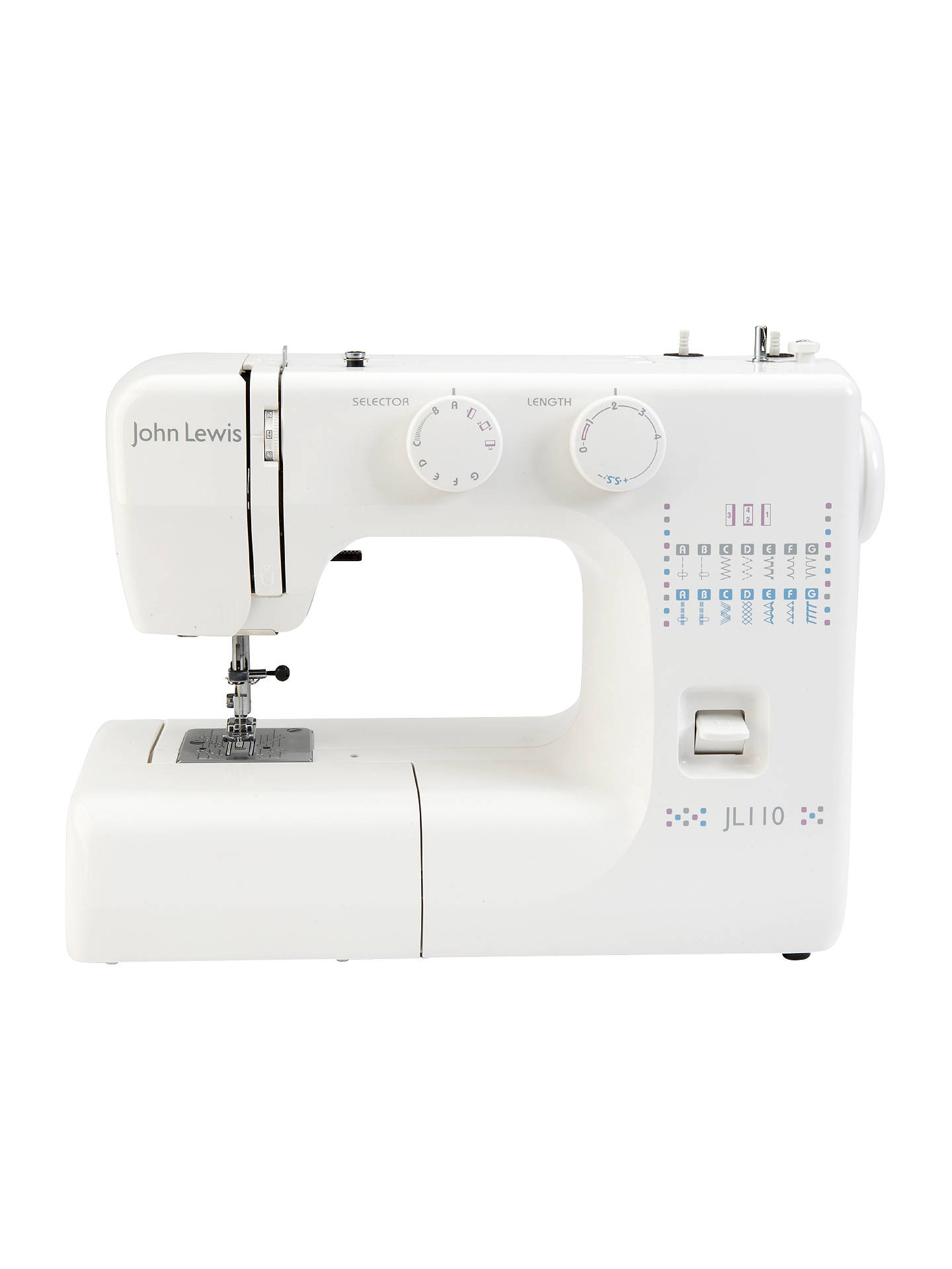 John Lewis Partners Jl110 Sewing Machine White At Threading Diagram Buyjohn Online Johnlewis