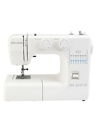 John Lewis & Partners JL110 Sewing Machine, White