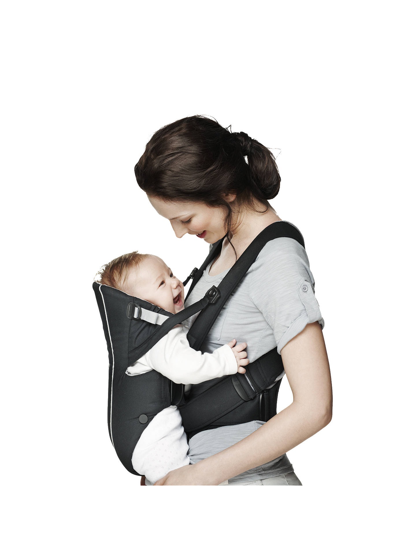 Babybjorn Baby Carrier Active Black Silver At John Lewis Partners