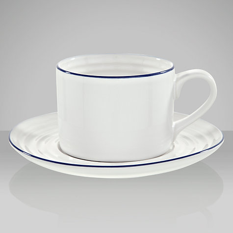 Buy John Lewis Coastal Cup & Saucer, 0.39L, White Online at johnlewis.com