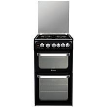 Buy Hotpoint Ultima HUG52K Gas Cooker, Black Online at johnlewis.com