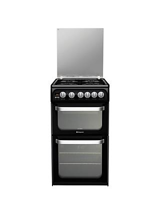 Hotpoint Ultima HUG52K Gas Cooker, Black