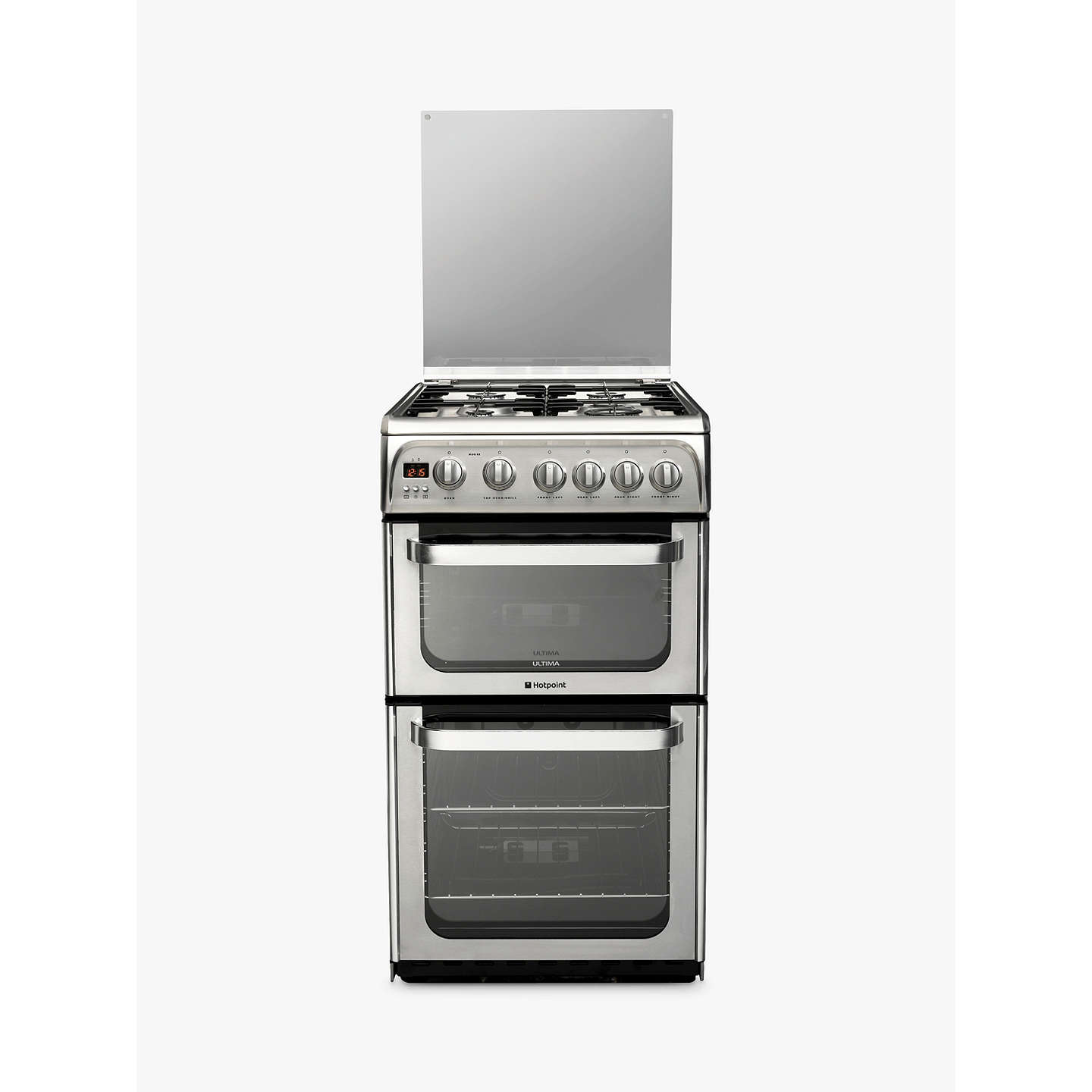 Hotpoint Ultima HUG52X Gas Cooker, Stainless Steel at John Lewis
