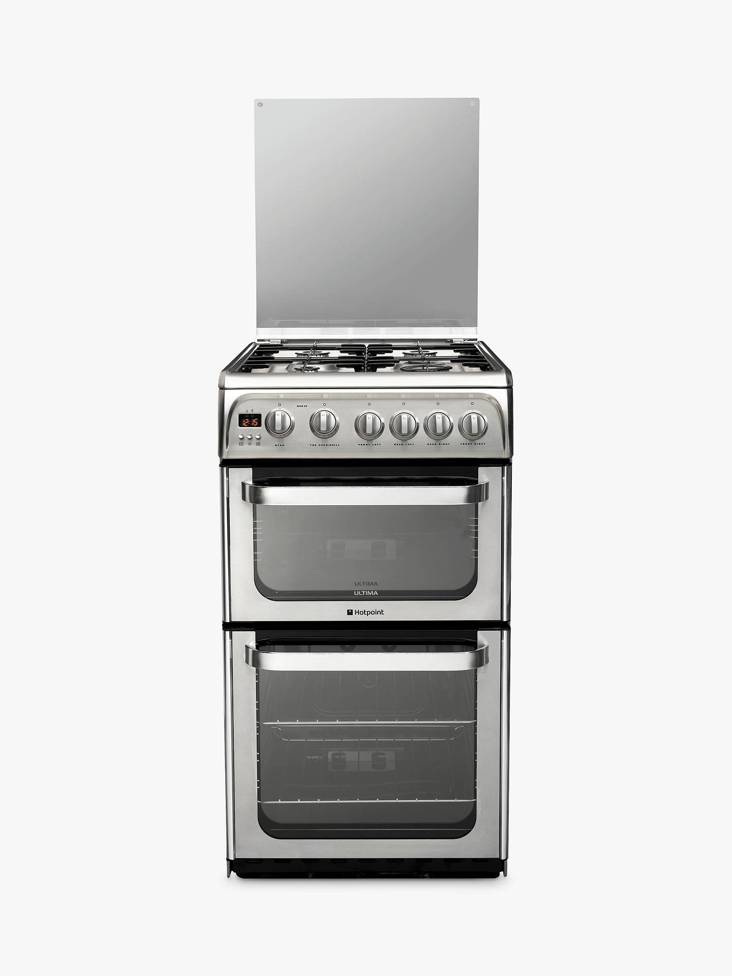 hotpoint ultima hug52x gas cooker stainless steel at john. Black Bedroom Furniture Sets. Home Design Ideas