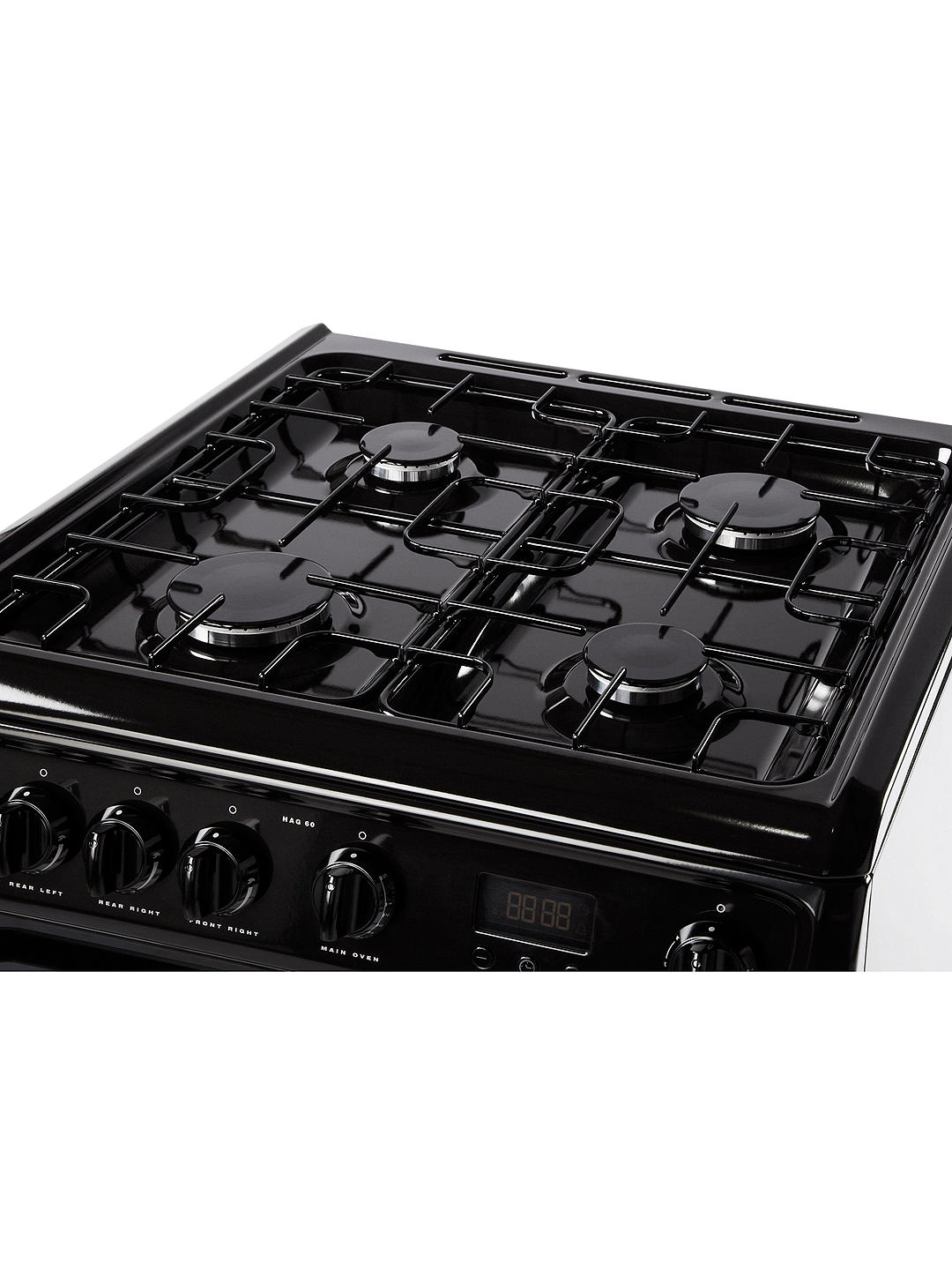 Buy Hotpoint Newstyle HAG60K Gas Cooker, Onyx Black Online at johnlewis.com