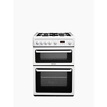 Buy Hotpoint HAG60P Gas Cooker, White Online at johnlewis.com
