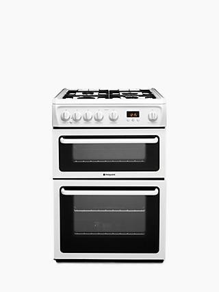 Hotpoint HAG60P Gas Cooker, White