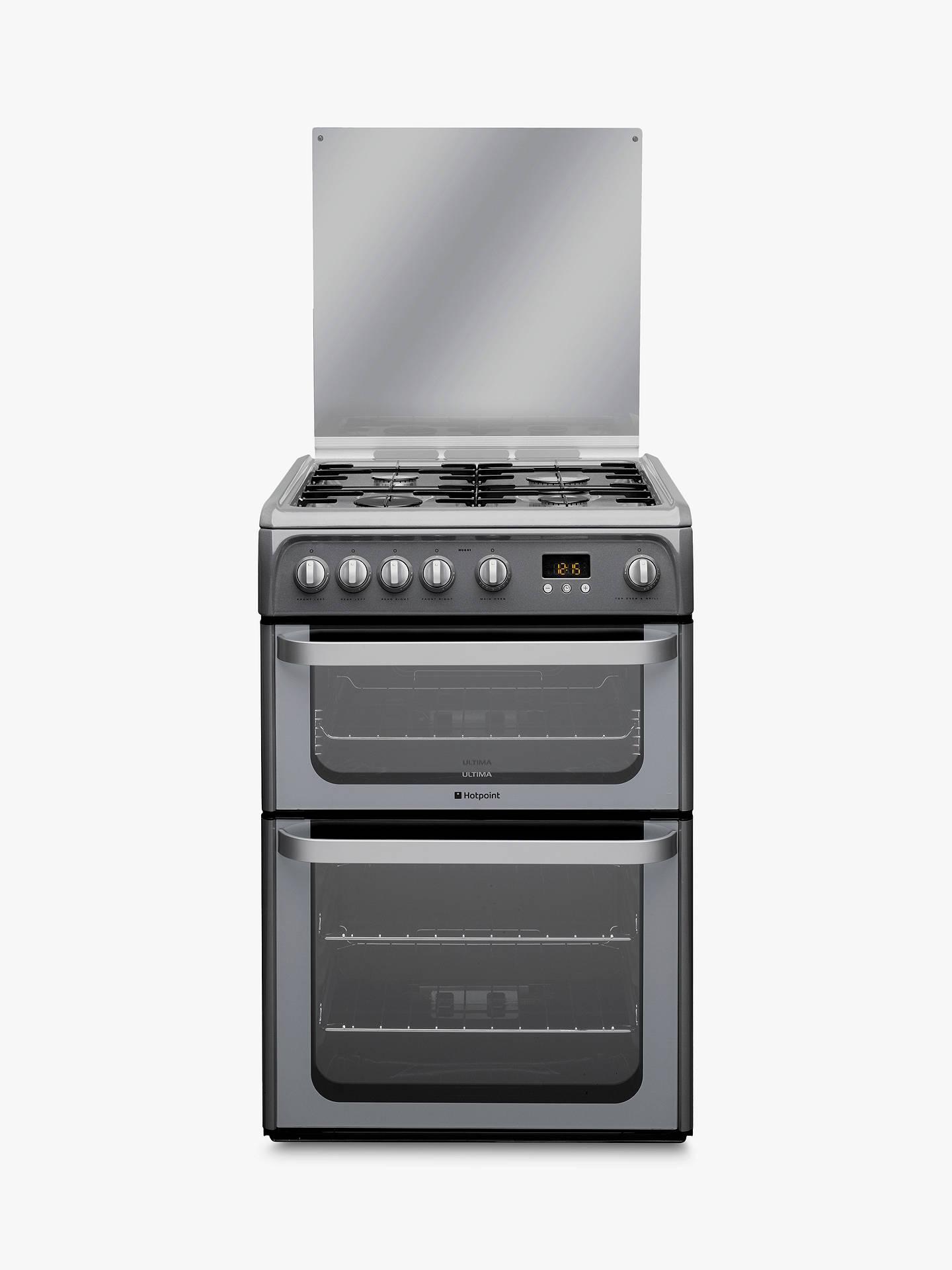 hotpoint hug61g ultima gas cooker graphite at john lewis. Black Bedroom Furniture Sets. Home Design Ideas