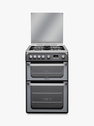 Hotpoint HUG61G Ultima Gas Cooker, Graphite
