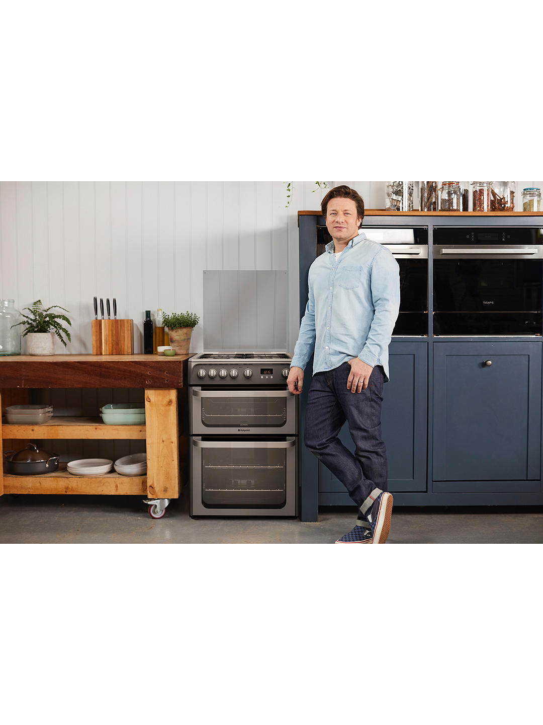 Buy Hotpoint HUG61G Ultima Gas Cooker, Graphite Online at johnlewis.com