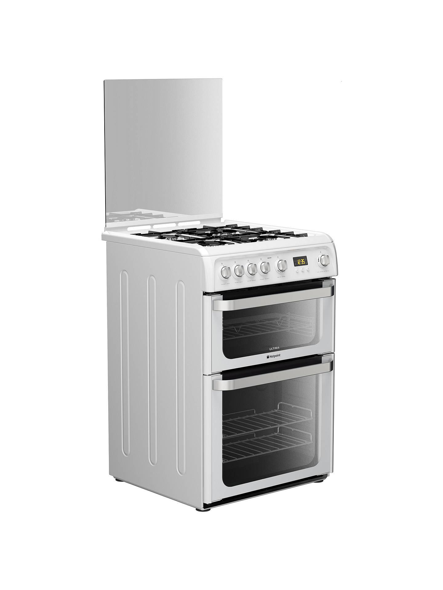 hotpoint hug61p ultima gas cooker white at john lewis. Black Bedroom Furniture Sets. Home Design Ideas