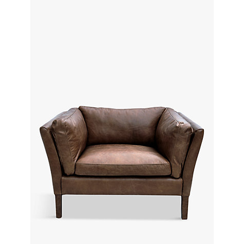 Buy Halo Groucho Aniline Leather Armchair Online at johnlewis.com