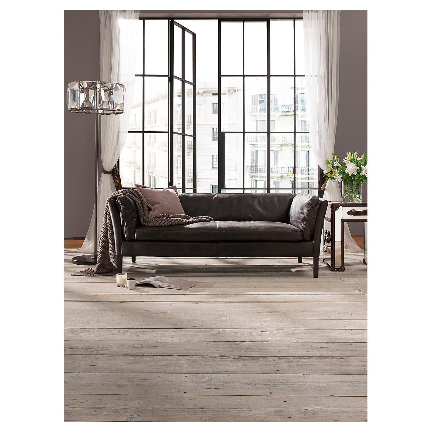 ... Buy Halo Groucho Medium Aniline Leather Sofa Online At Johnlewis.com