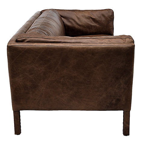 Buy Halo Groucho Medium Aniline Leather Sofa Online at johnlewis.com