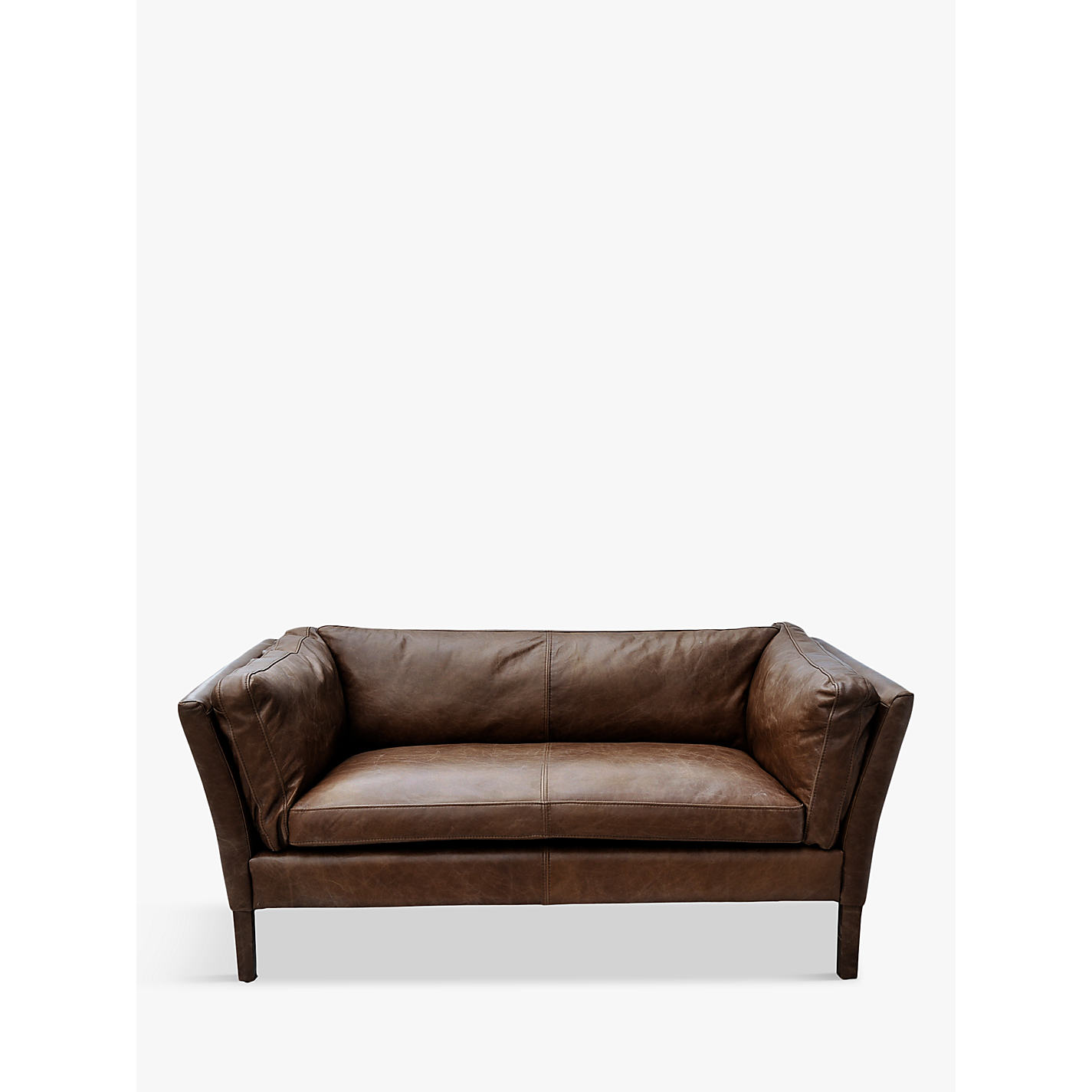 Halo Groucho Small Aniline Leather Sofa Online At Johnlewis