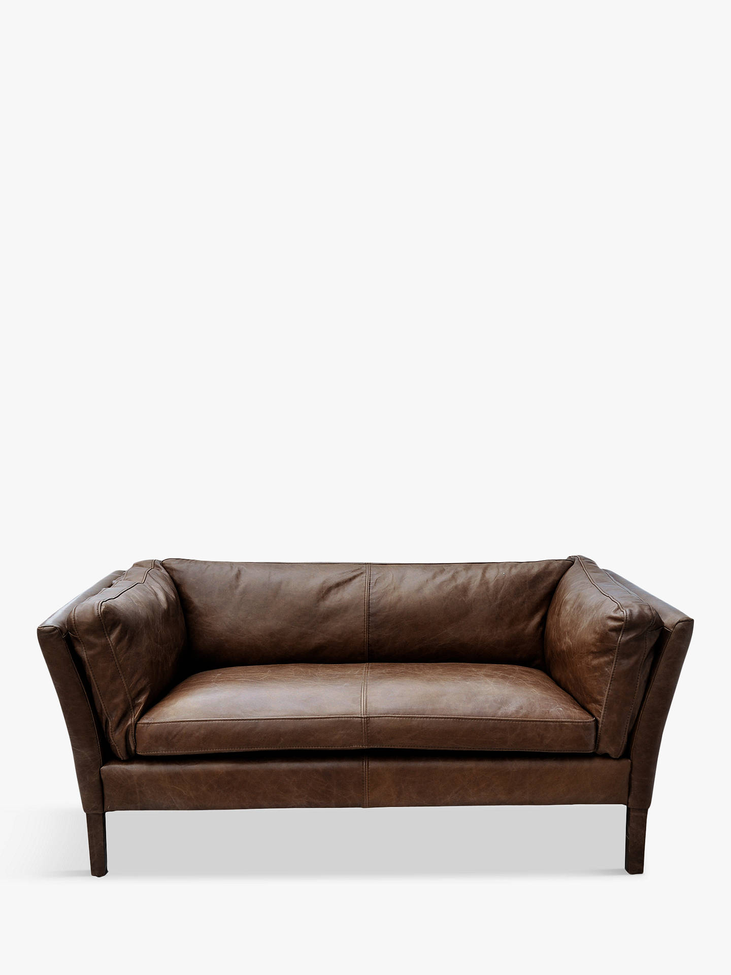Buyhalo groucho small aniline leather sofa riders cocoa online at johnlewis com