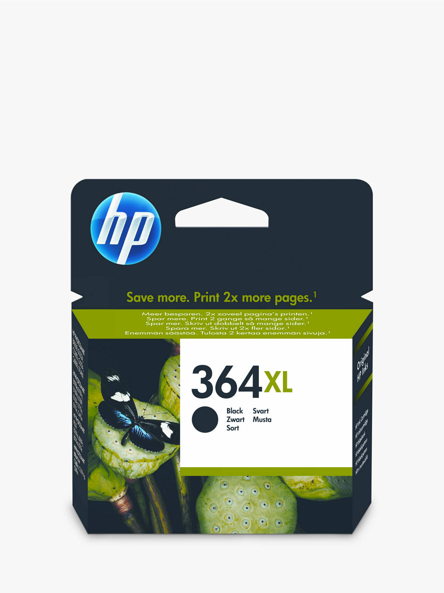 HP 364XL Inkjet Cartridge, Black, CN684EE