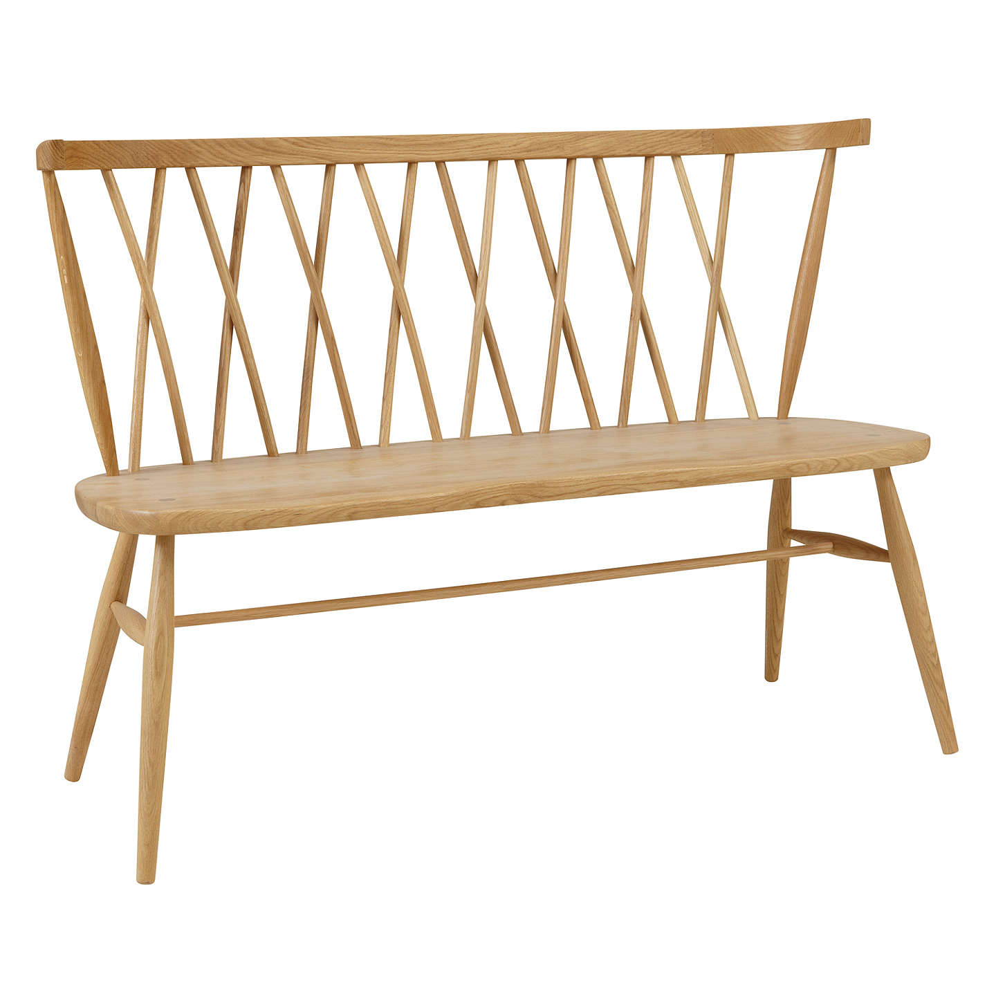 ercol for john lewis chiltern 3-seater dining bench, light wood at 3 Seater Dining Bench