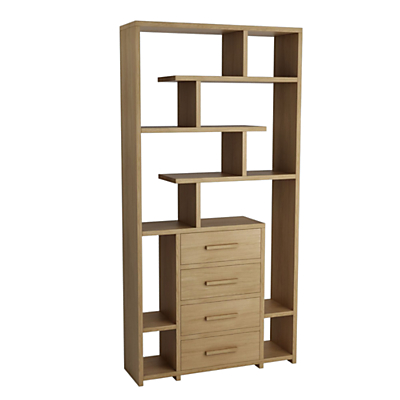 John Lewis & Partners Henry 4 Drawer Bookcase