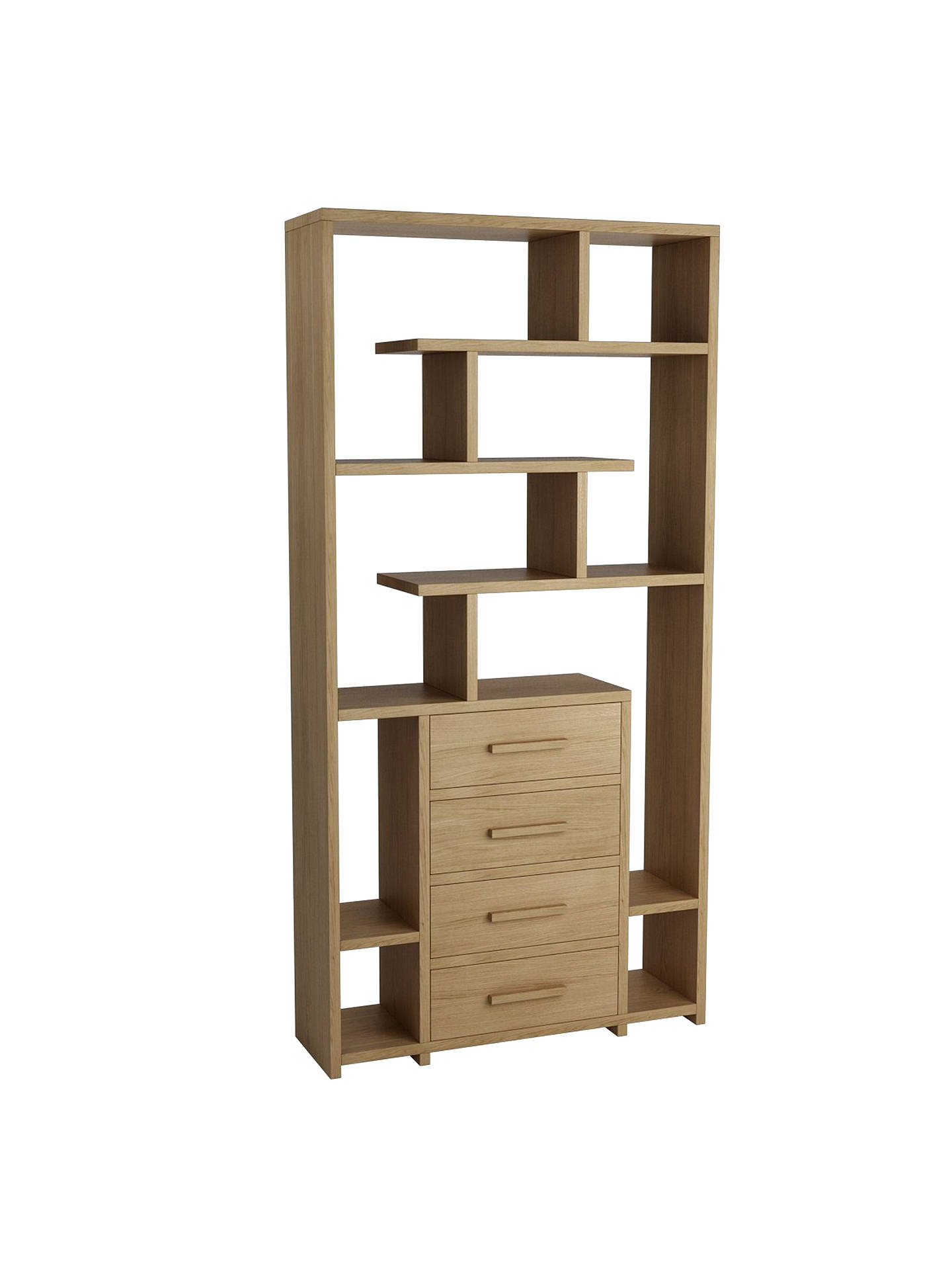 Buy John Lewis & Partners Henry 4 Drawer Bookcase Online at johnlewis.com