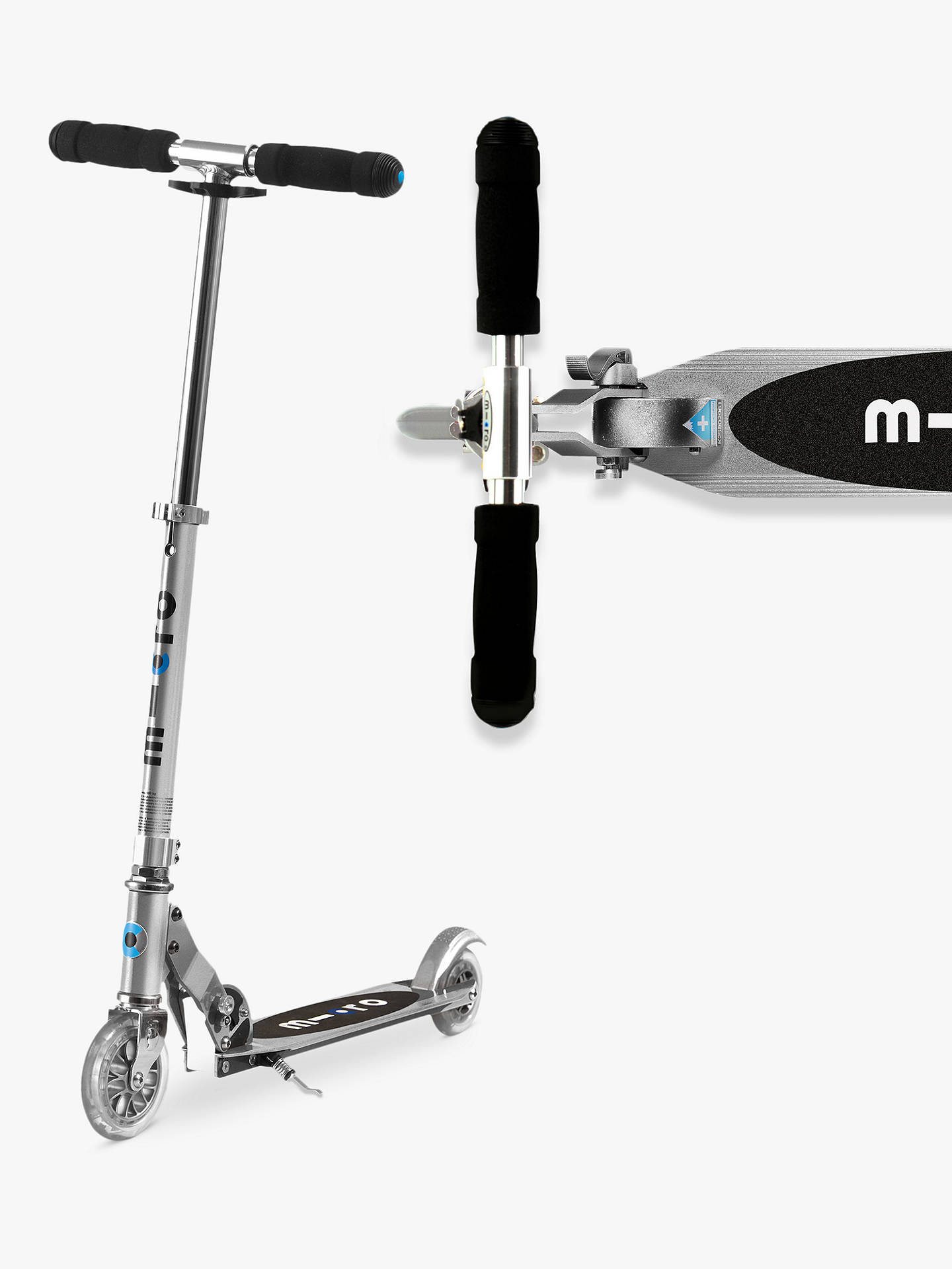 BuyMicro Sprite Scooter, 5-12 years, Silver Online at johnlewis.com