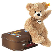 Buy Steiff Fynn Teddy Bear and Suitcase Online at johnlewis.com
