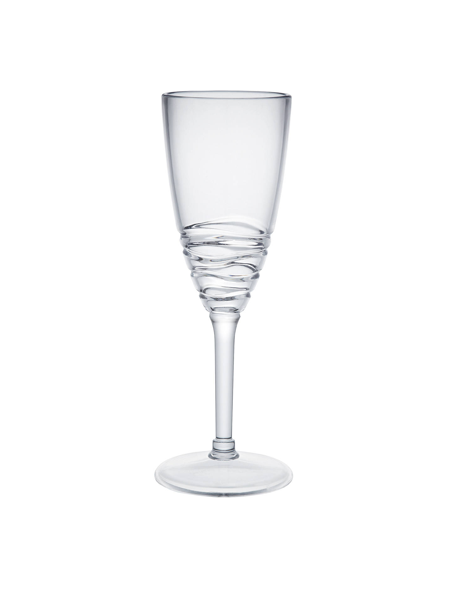 BuyJohn Lewis & Partners Wave Acrylic Picnic Champagne Glass Online at johnlewis.com