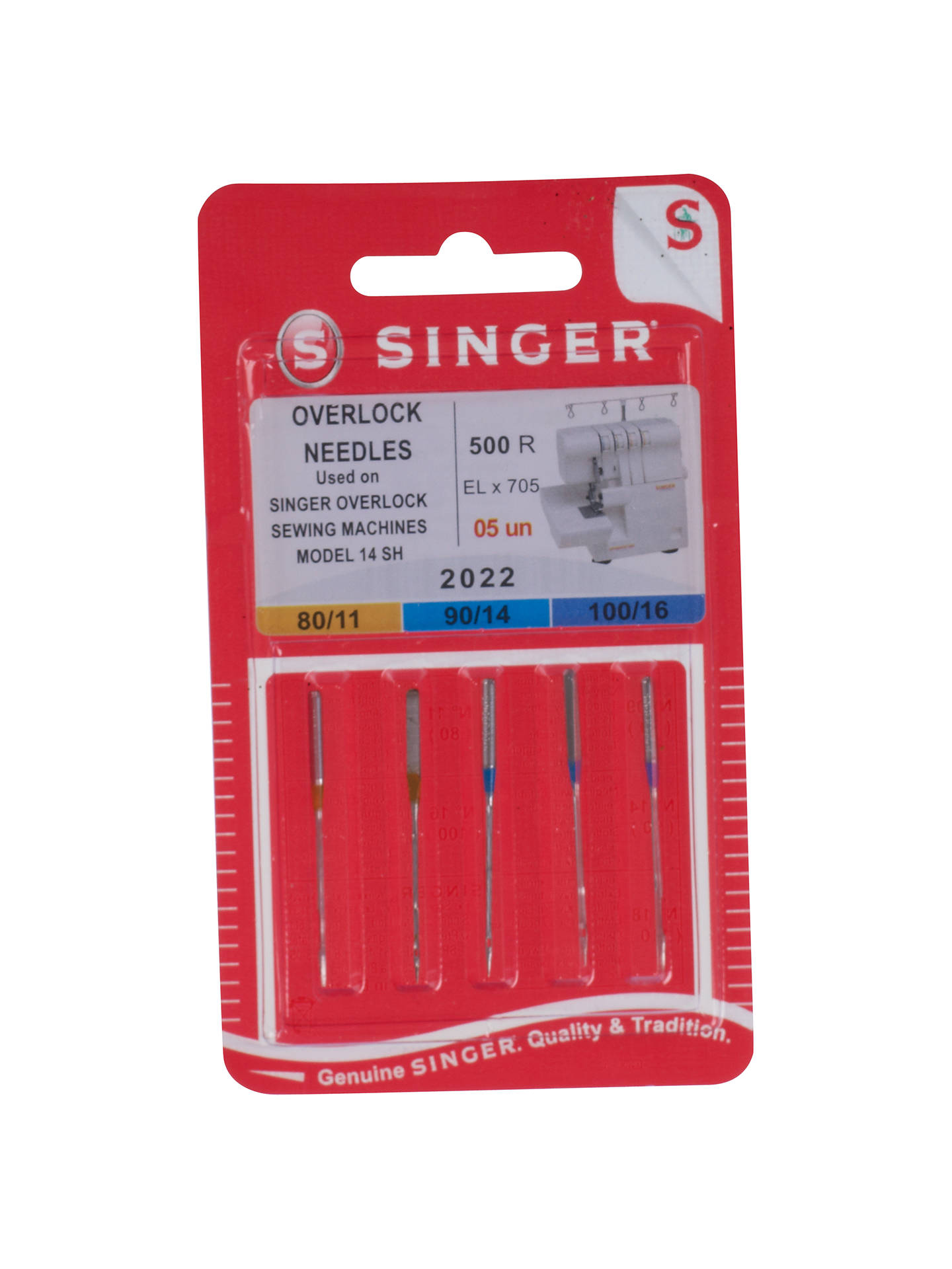 BuySinger Overlock Sewing Machine Needles, 2022 Online at johnlewis.com