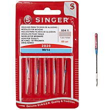 Buy Singer Sewing Machine Needles, 2020-90/14 Online at johnlewis.com