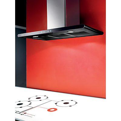 Elica Galaxy Chimney Hood, Stainless Steel/Black Glass