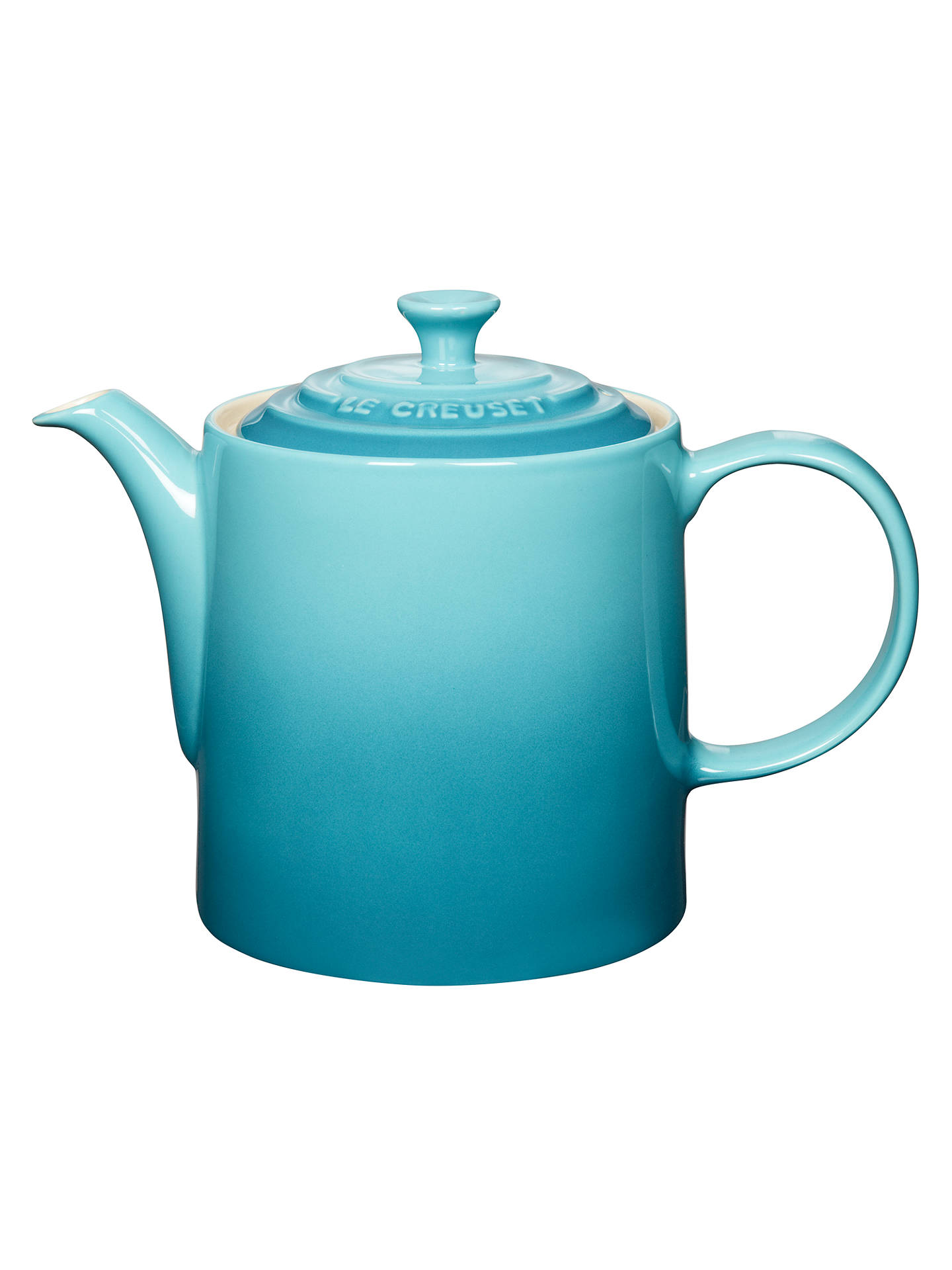 Buy Le Creuset Stoneware Grand Teapot, 1.3L, Teal Online at johnlewis.com