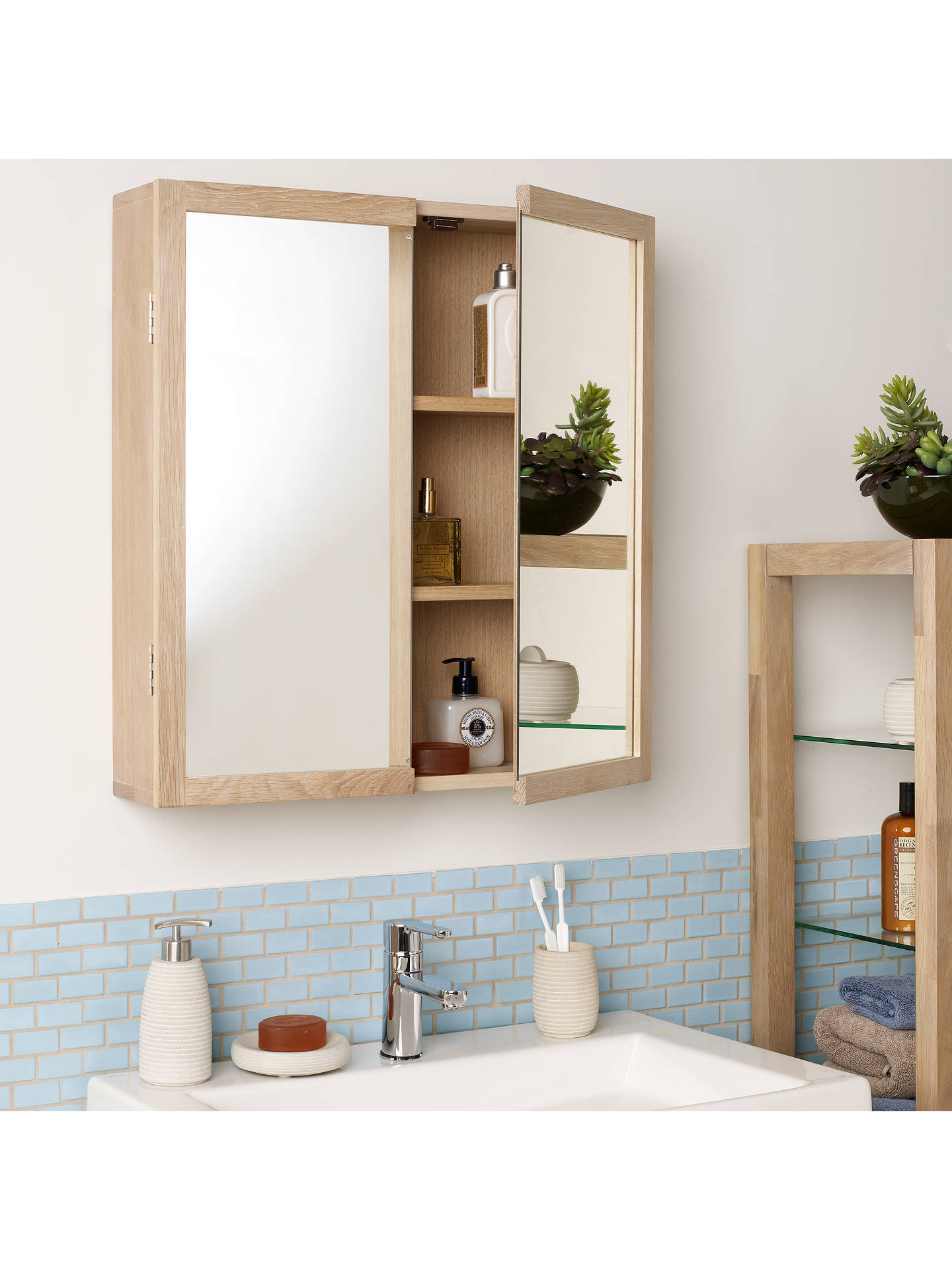 John Lewis Heywood Double Mirrored Bathroom Cabinet at ...