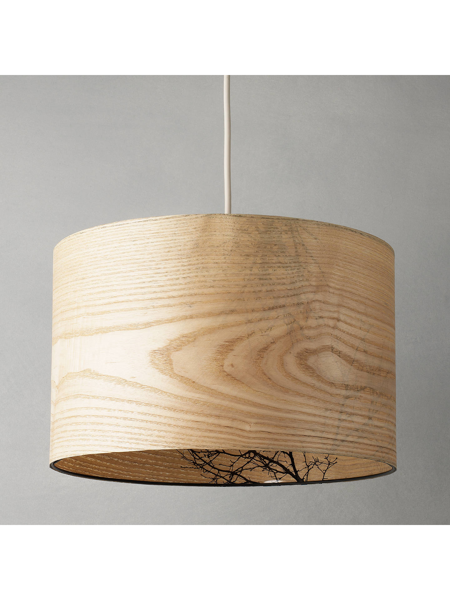 BuyJohn Lewis & Partners Woodland Drum Shade, Dia.25cm Online at johnlewis.com