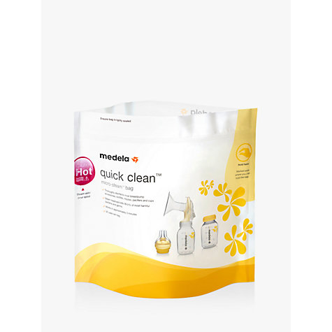 Buy Medela Quick, Clean Microwave Bags, Pack of 5 Online at johnlewis.com