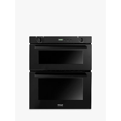 Image of Stoves SGB700PS Double Built-Under Gas Oven, Black