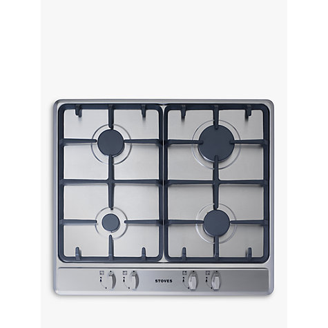 Buy Stoves SGH600C Gas Hob, Stainless Steel | John Lewis
