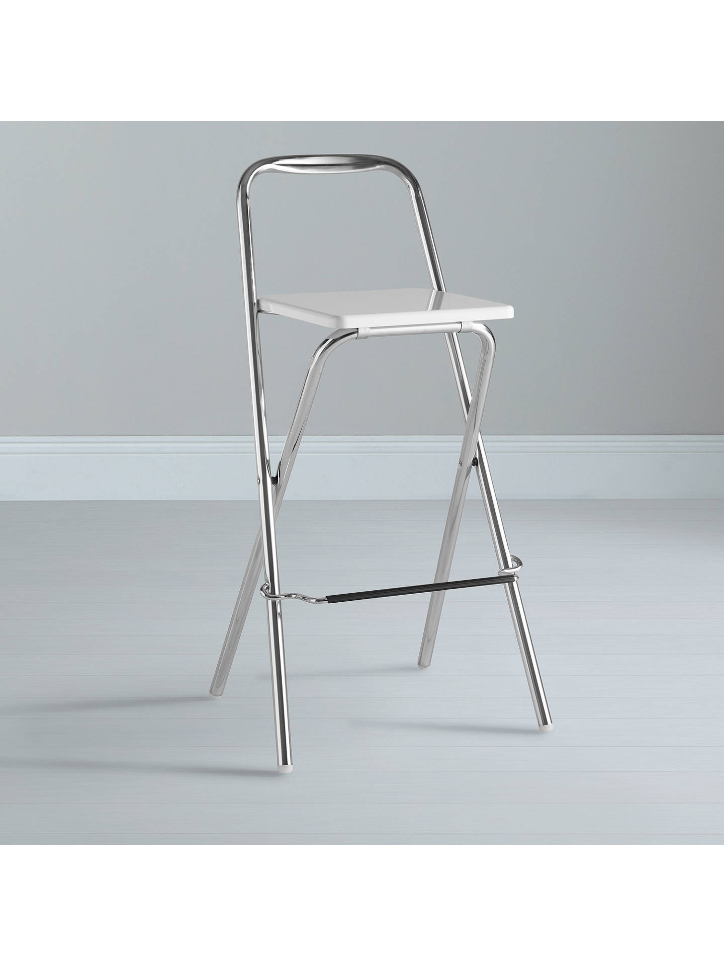 ... BuyHouse By John Lewis Verona Folding Bar Chair, White Online At  Johnlewis.com ...