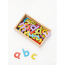Buy John Lewis Magnetic Wooden Letters Puzzle Online at johnlewis.com