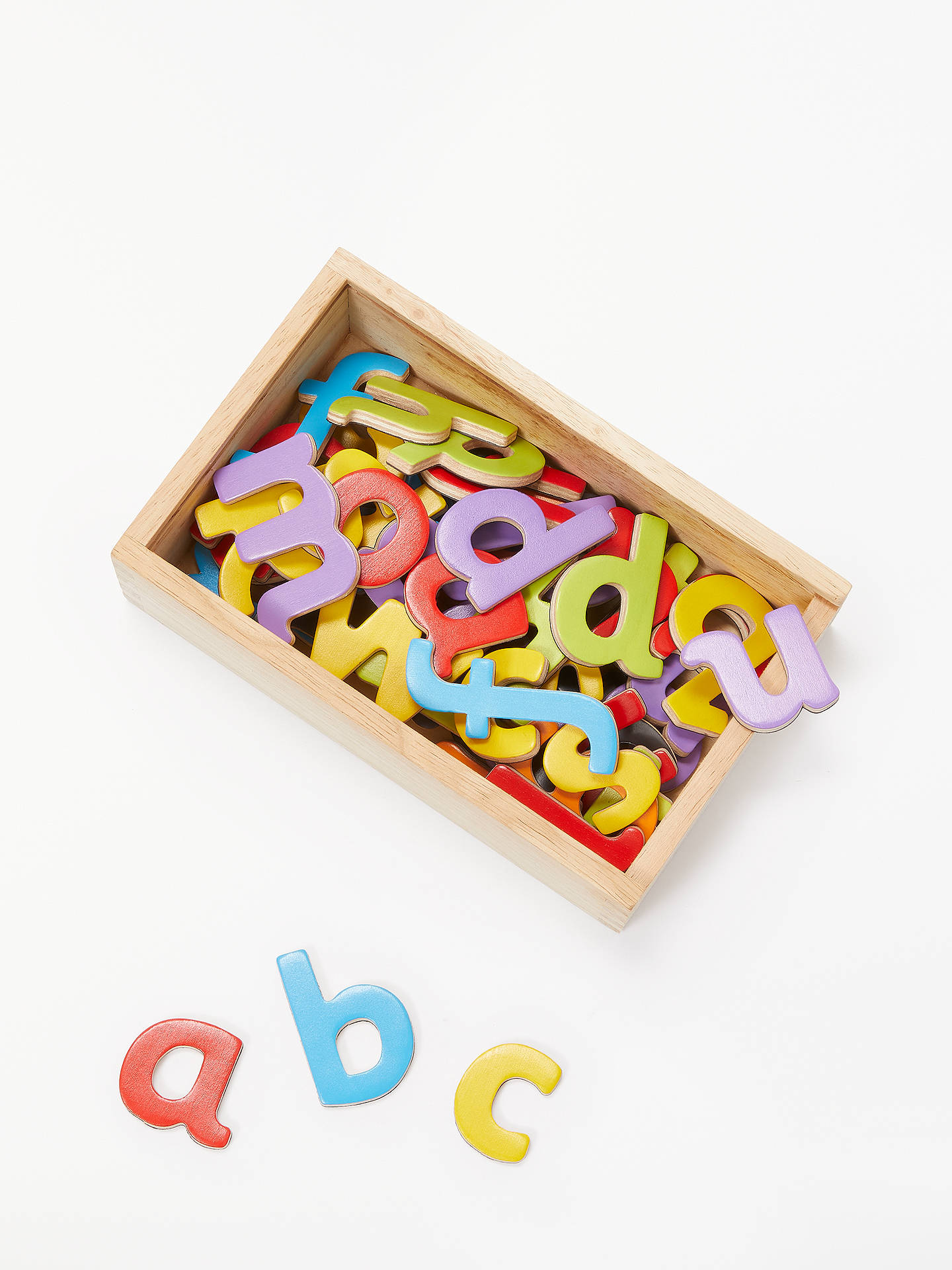 John Lewis Partners Magnetic Wooden Letters Box