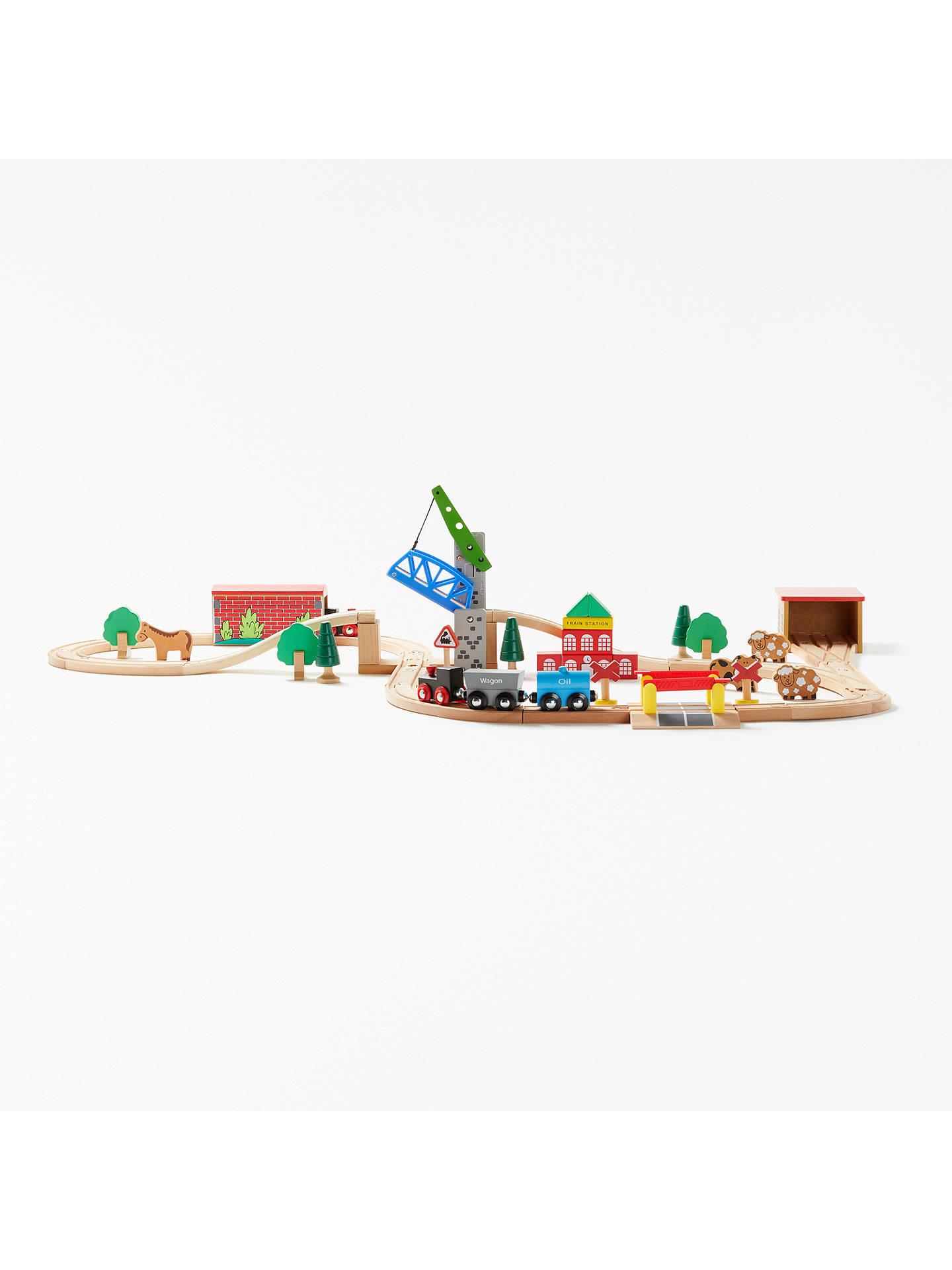 john lewis & partners wooden train set