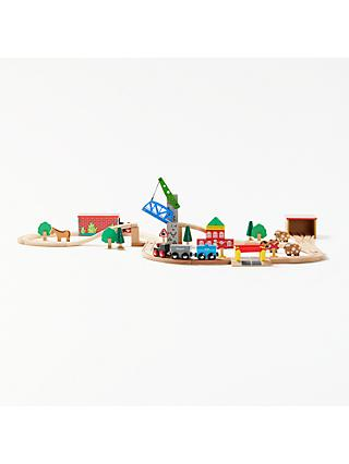 John Lewis & Partners Wooden Train Set
