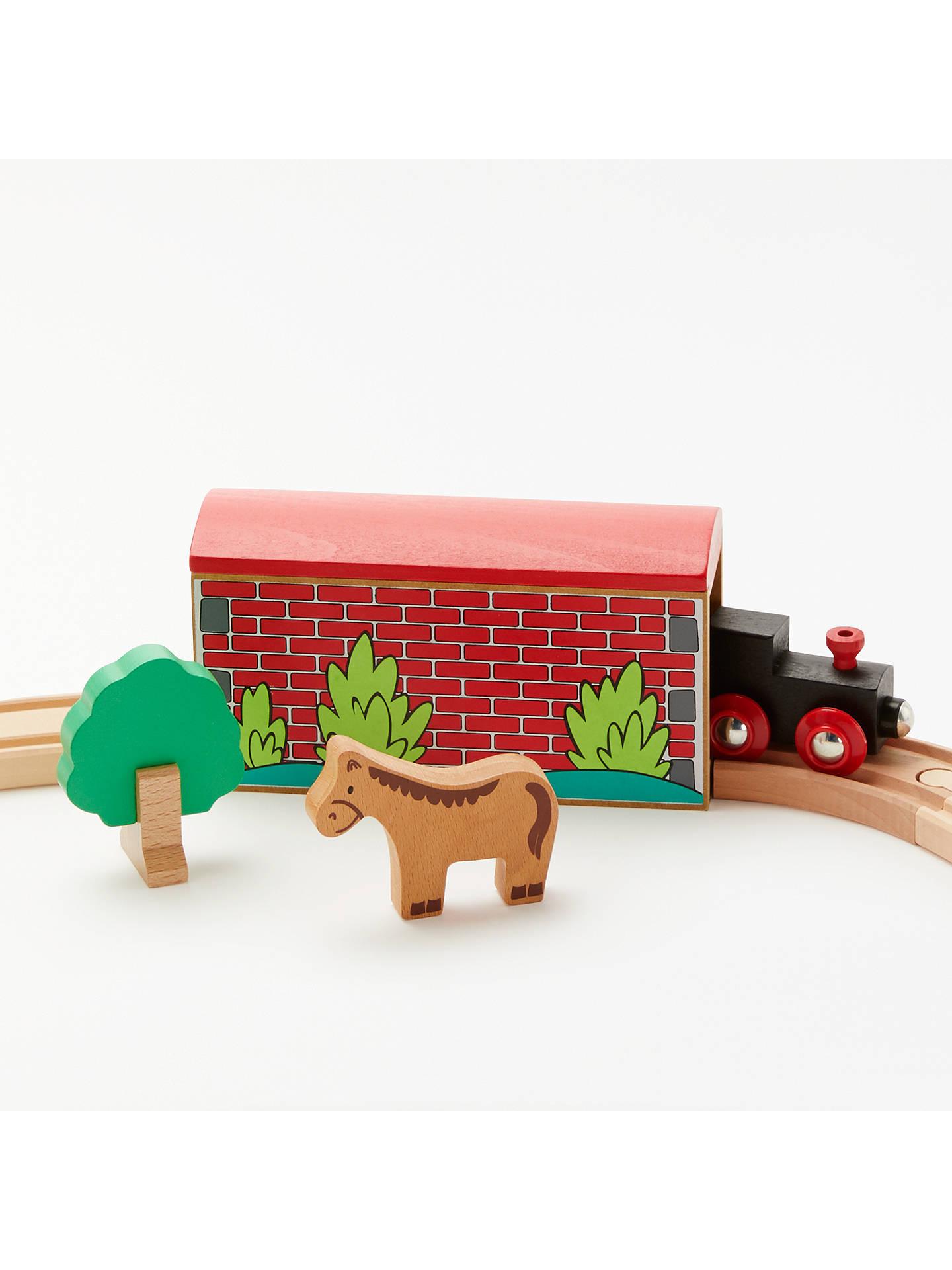 John Lewis Partners Wooden Train Set