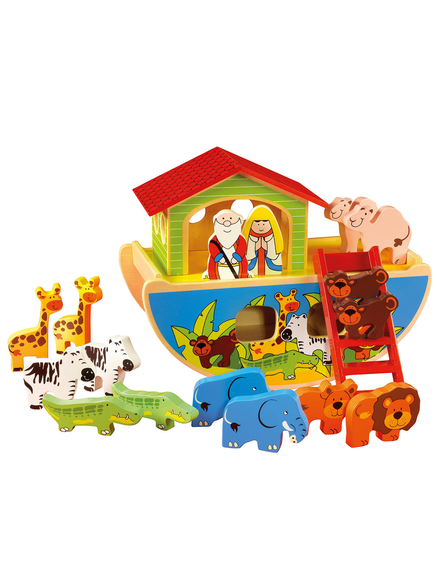 Buy John Lewis & Partners Wooden Noah's Ark Set Online at johnlewis.com