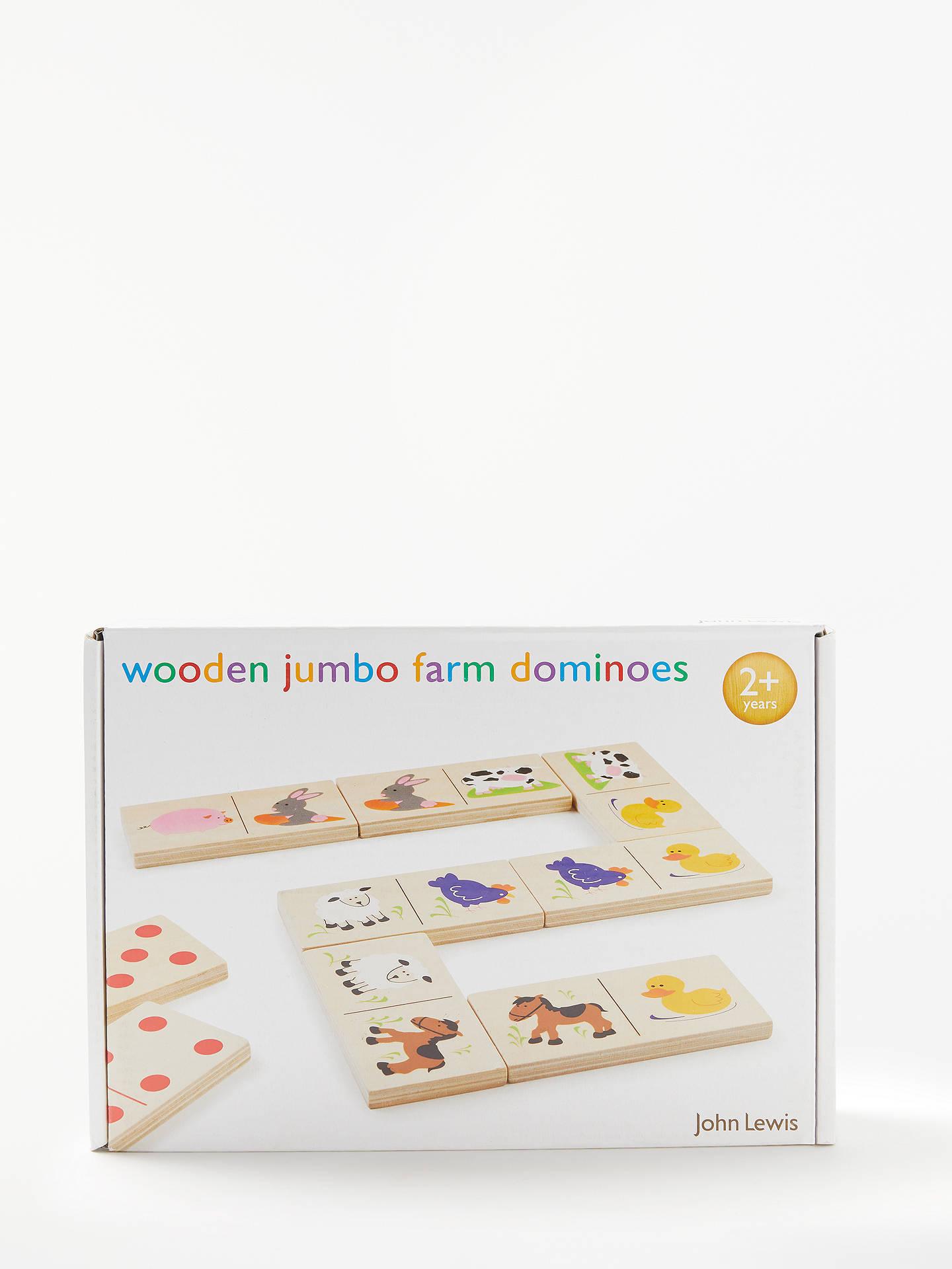John Lewis & Partners Jumbo Farm Dominoes at John Lewis & Partners