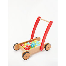 Buy John Lewis Wooden Baby Walker and Bricks Online at johnlewis.com