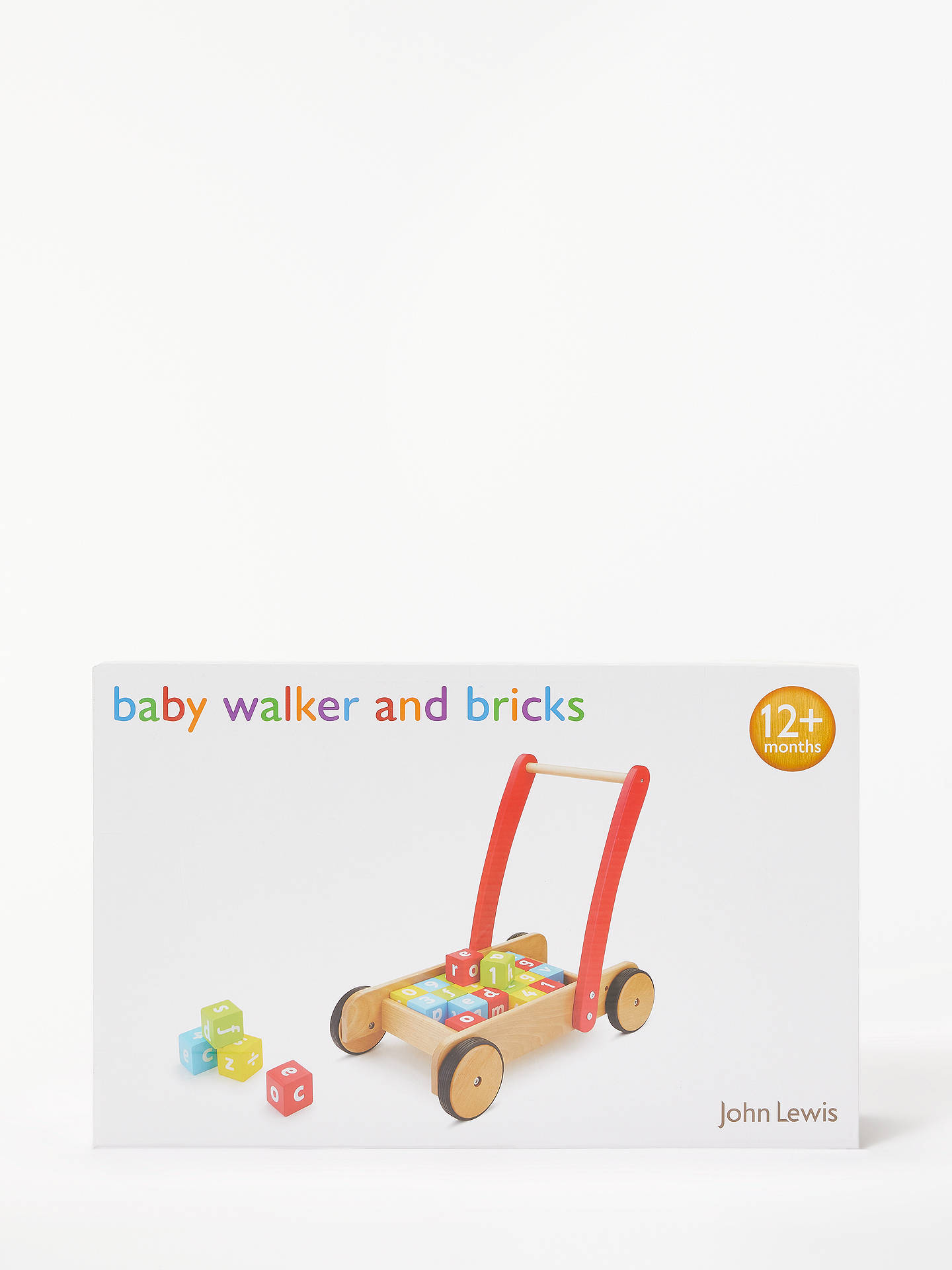 BuyJohn Lewis & Partners Wooden Baby Walker and Bricks Online at johnlewis.com