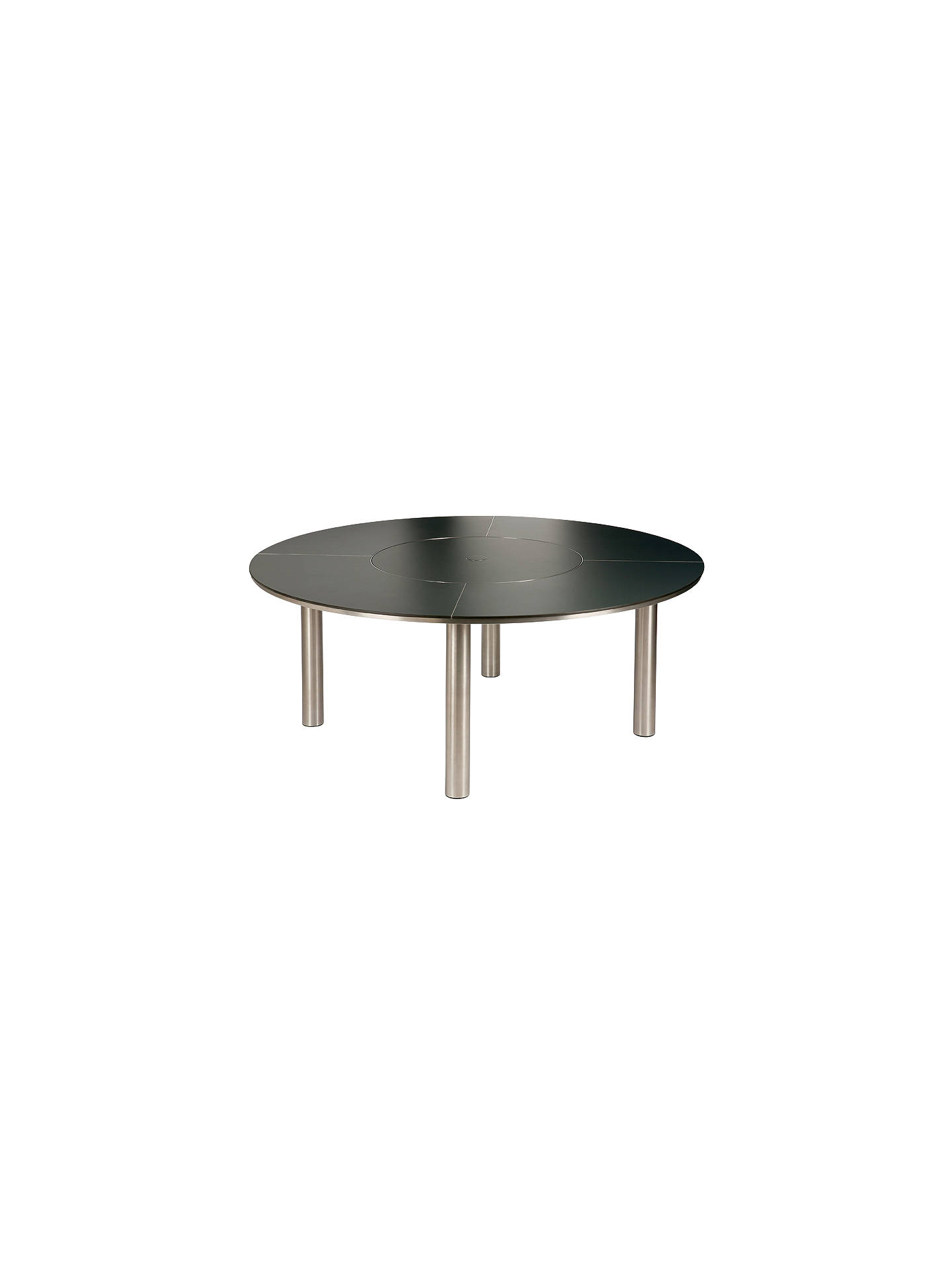 Barlow Tyrie Equinox Round 8 Seater Outdoor Dining Table With Lazy Susan Slate Grey At John Lewis Partners