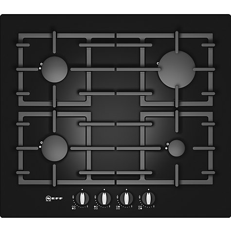 Buy Neff T62S26S1 Gas Hob, Black Online at johnlewis.com