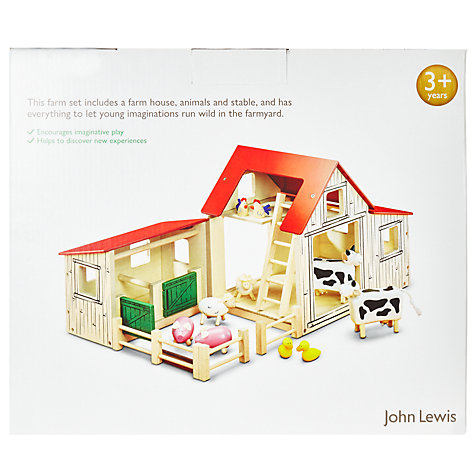 Buy John Lewis Wooden Farmyard and Animals Set Online at johnlewis.com