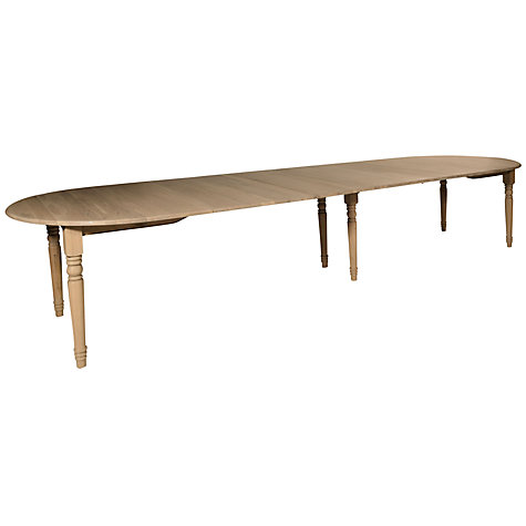 Buy Neptune Sheldrake 165-365cm Oval Extending Oak Dining Table, Oak Online at johnlewis.com